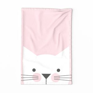 Peek-a-Boo Cat, Soft Pink with Happy Cheeks