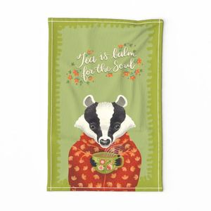 Badger tea is balm for the soul teatowel