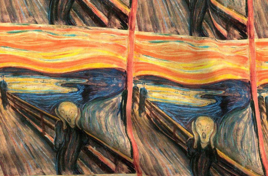 Munch - The Scream (1893) - 18 in - Spoonflower