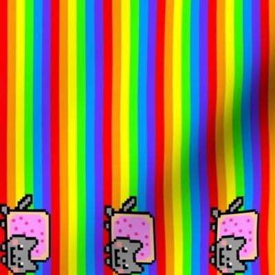 Fabric by the Yard Nyan cat rainbow