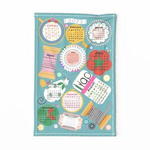 Sewing Table Tea Towel 2020