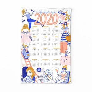 2020 Resolutions Tea Towel Calendar
