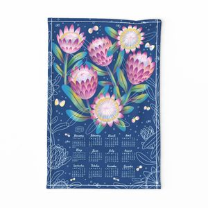 Protea tea towel calendar 2020