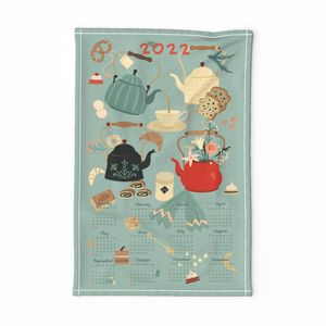 Tea Time - Tea Towel Calendar