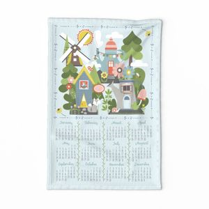 Woodland Homes Tea Towel
