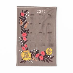 Yellow Rose Tea Towel Calendar 2020