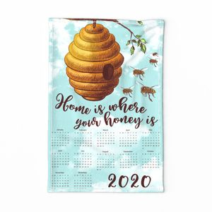 FS Honey Bee Tea Towel 2020 Calendar
