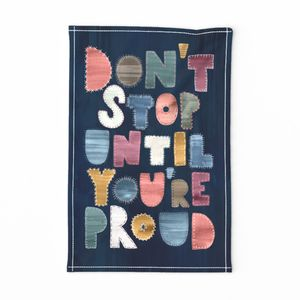 Boro Motivational Quote Don't Stop / Navy