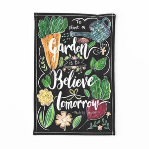 Plant and believe tea towel