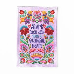 Grateful Heart tea towel