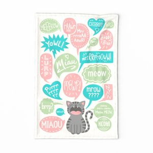 Do You Speak Cat? Tea Towel