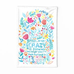 Cute 'n Crazy Tea Towel