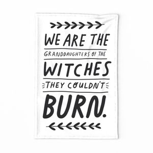 Kitchen Witch Quote tea towel
