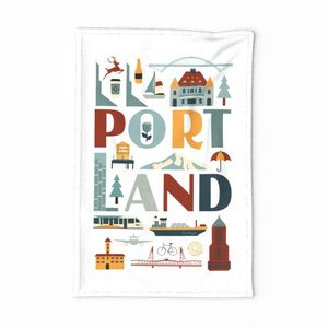 Portland Oregon tea towel