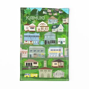 MY HOME TOWN KAIMUKI TEA TOWEL