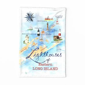 My Hometown Lighthouse tea towel