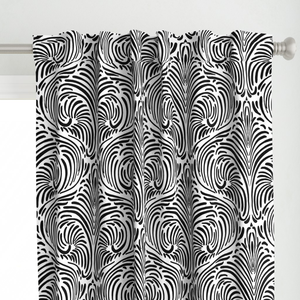 Animalia- Black on white - large scale