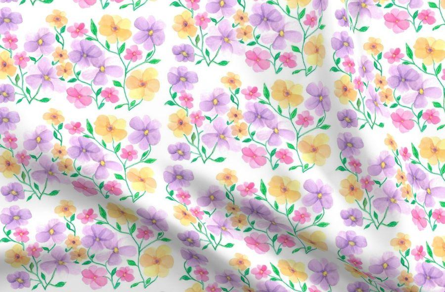 Fiori Di Primavera.Fiori Di Primavera Spoonflower