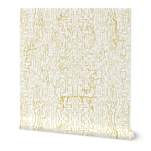 Crackle gold wall