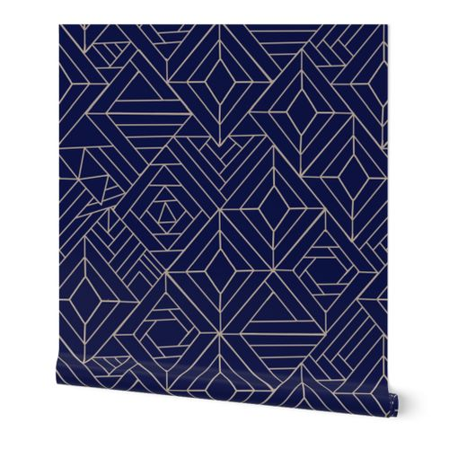 Midnight Gems Faux Tile