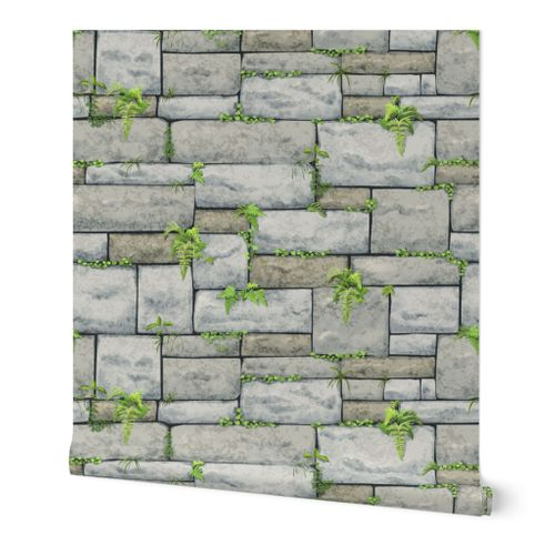 Gray Stone Wall Large