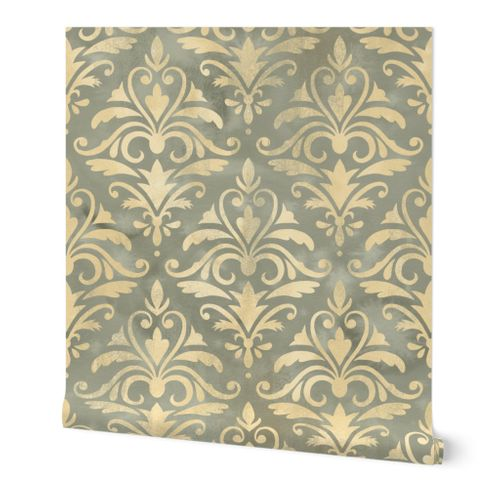 Shabby Chic Damask / Large Scale