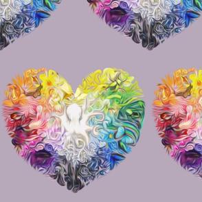 Rainbow earth heart