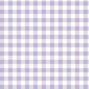 "3/8"" Light Purple Gingham: Medium Lavender Gingham Check, Purple Buffalo Plaid"