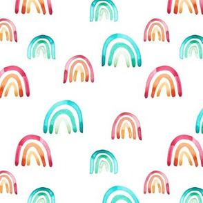 Multi watercolor rainbow Small