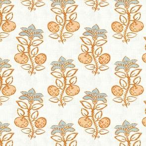 """Block-print Citrus Plant v2 (vanilla) 3.5"""""""