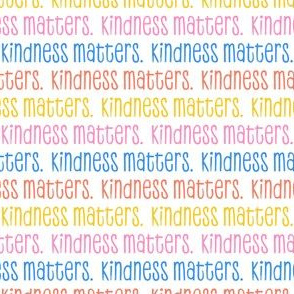 kindness matters -   pink/blue/yellow - LAD20