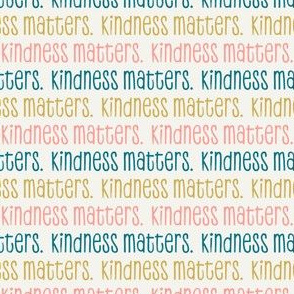 kindness matters - multi pink/teal on cream - LAD20