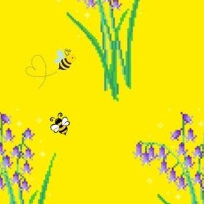 Digital Lily of the valley bees
