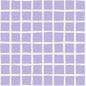 Minimal abstract raw brush paint grid geometric maze nursery violet lilac purple
