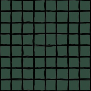 Minimal abstract raw brush paint grid geometric maze nursery cameo green black