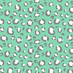 mint grey leopard