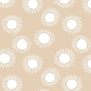 Sunny day boho sunshine and sun rays summer minimal abstract nursery design earthy beige sand