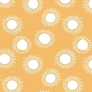 Sunny day boho sunshine and sun rays summer minimal abstract nursery design yellow