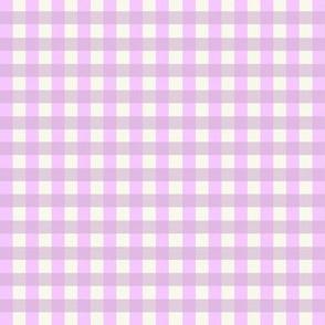 lilac gingham