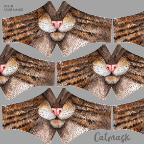 Catmask Size XL for male adults , cat face mask