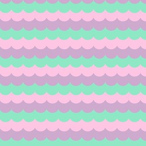 pastel mermaid scallops