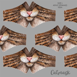 Catmask Size L - Adult (female) and Teens - cat face mask