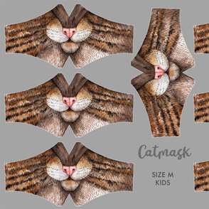 Catmask Size M - kids (6-11) - cat face mask