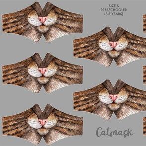 Catmask Size S - preschooler (3-5 years), cat face mask