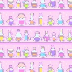 Kawaii Magic Potions on Pink