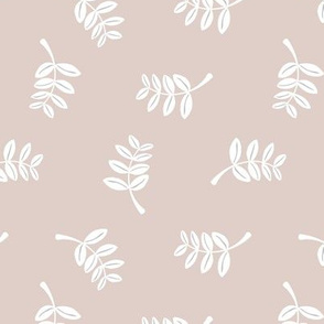 Soft minimal boho style leaves summer garden lush jungle earthy nature nursery beige sand