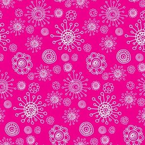 Floral Hot Pink