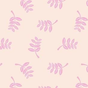 Soft minimal boho style leaves summer garden lush jungle earthy nature nursery soft creme pink