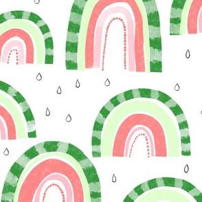 Watermelon Rainbows -12inch repeat