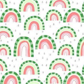 Watermelon Rainbows - 6 inch repeat